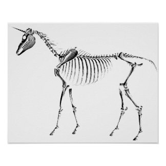 Unicorn Skeleton Poster