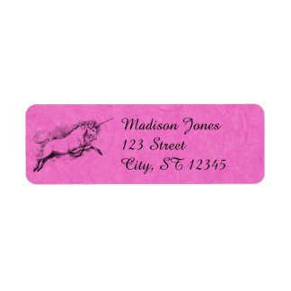 unicorn sketch fantasy art story trendy fashion return address label