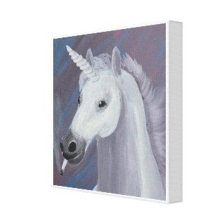 unicorn smoking painting canvas print