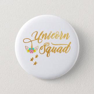 Unicorn Squad. Calligraphy, Floral Horse Face 6 Cm Round Badge