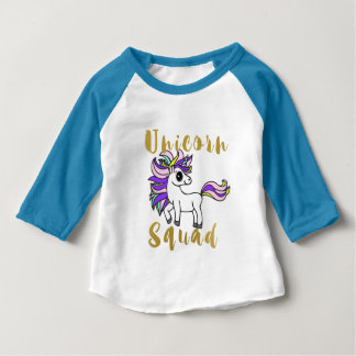 Unicorn Squad, Colorful Pony Baby T-Shirt