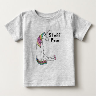 unicorn-staff-pose-tshirt baby T-Shirt