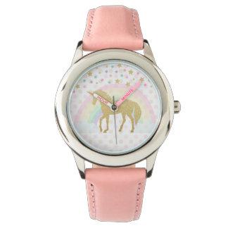 Unicorn Stainless Steel Pink Watch