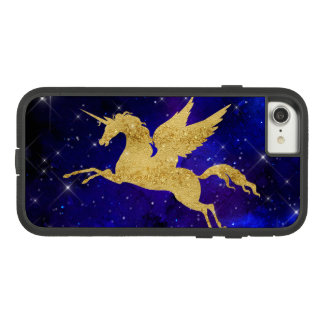 Unicorn Stardust Galaxy Constellation Blue Gold Case-Mate Tough Extreme iPhone 7 Case