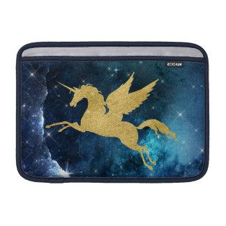 Unicorn Stardust Galaxy Constellation Blue Gold Sleeve For MacBook Air