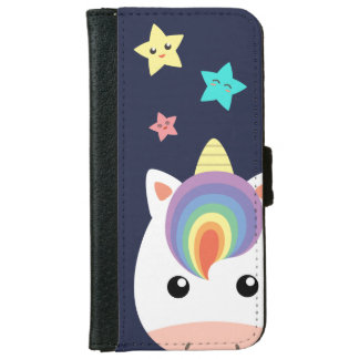 Unicorn & Stars iPhone 6 Wallet Case