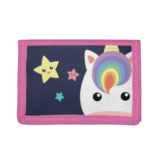 Unicorn & Stars Tri-fold Wallet