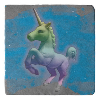 Unicorn Stone Trivet (Blue Nebula)