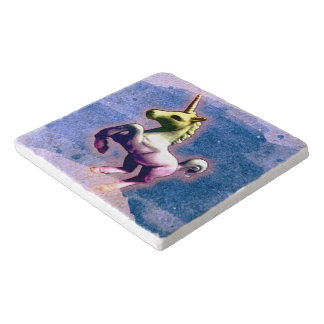Unicorn Stone Trivet (Burnt Blue)