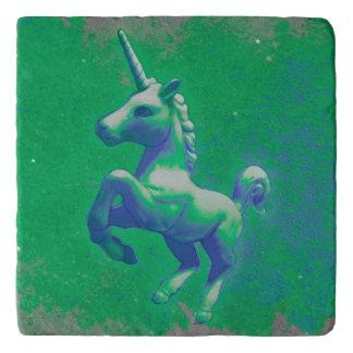 Unicorn Stone Trivet (Glowing Emerald)