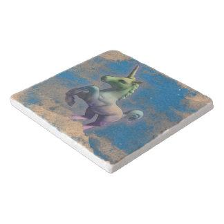 Unicorn Stone Trivet (Sandy Blue)