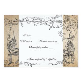 Unicorn Storybook rsvp with envelopes Card