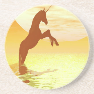 Unicorn Sunrise Coaster