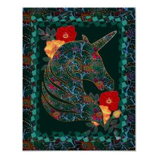 Unicorn Tapestry Poster