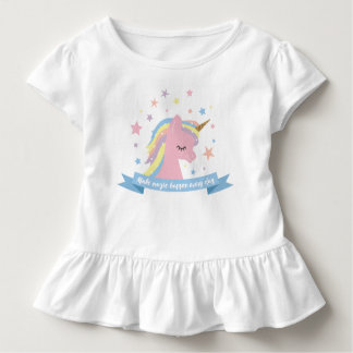 "Unicorn tee shirt - ""make magic happen every day"""