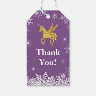 unicorn thank you gift tag