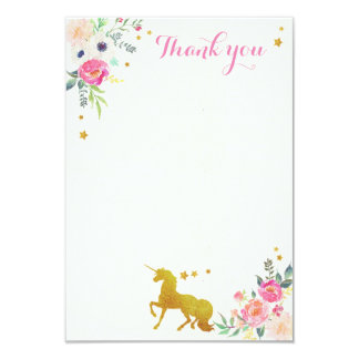 Unicorn Thank You Note Card