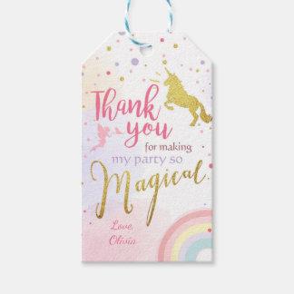 Unicorn thank you tags Unicorn Magical Birthday