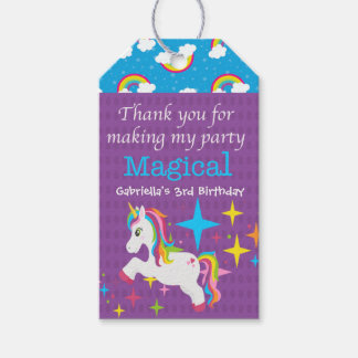 Unicorn Thanks For Making my Party Magical Tag