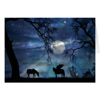 Unicorn Thinking of You Hello Card