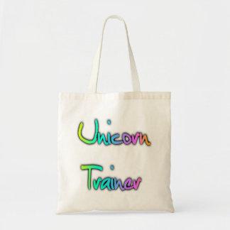 Unicorn Trainer Rainbow Budget Tote Bag