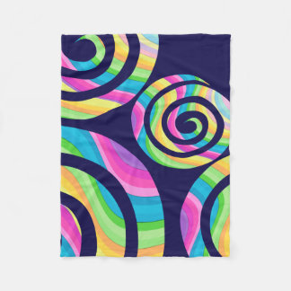 Unicorn Twirls Fleece Blanket