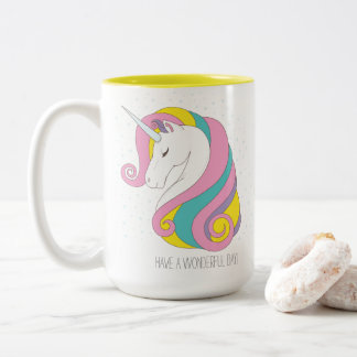 Unicorn Two-Tone Mug (Personalize it!)