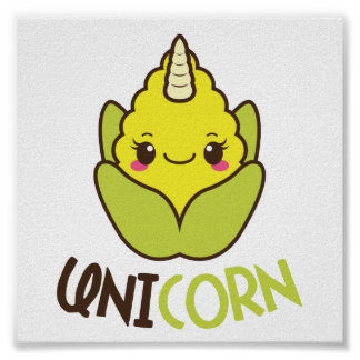 UniCORN (unicorn and corn) Poster