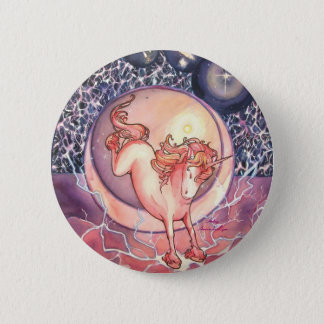 Unicorn, Universe 6 Cm Round Badge