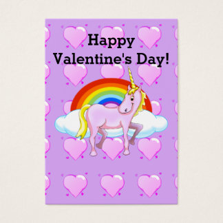 Unicorn Valentine Business Card