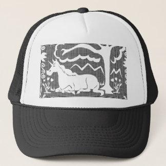 Unicorn Victorian Lace Trucker Hat