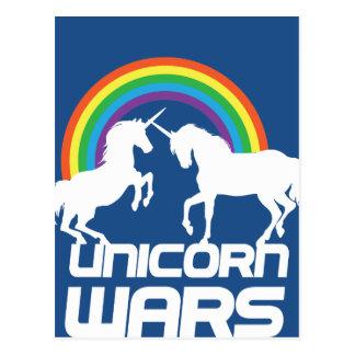 Unicorn Wars with Rainbow Postcard