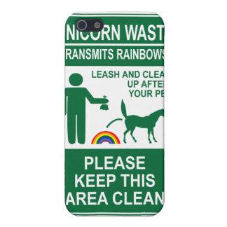 Unicorn Waste Sign iPhone case iPhone 5 Case