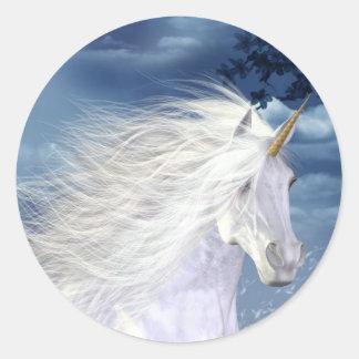 Unicorn White Beauty Close-up Stickers