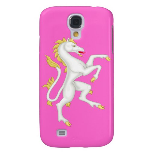 Unicorn with Golden Horn and Tail. Samsung Galaxy S4 Cover