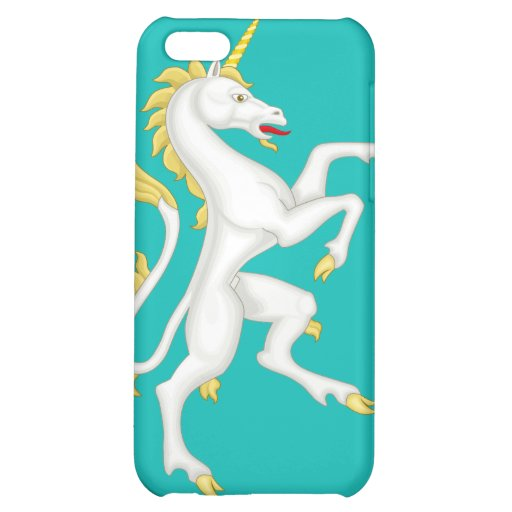 Unicorn with Golden Horn and Tail iPhone 5C Cover