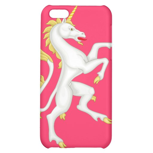 Unicorn with Golden Horn and Tail - Pink iPhone 5C Cover