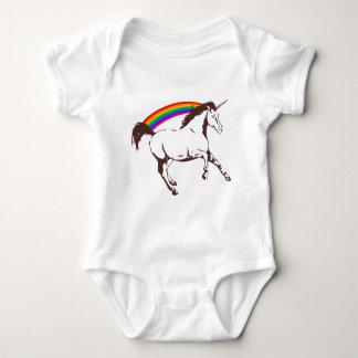 Unicorn with rainbow baby bodysuit
