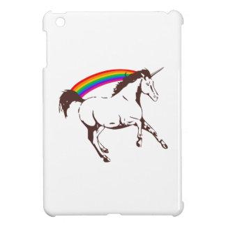 Unicorn with rainbow iPad mini cases