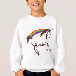 Unicorn with rainbow sweatshirt