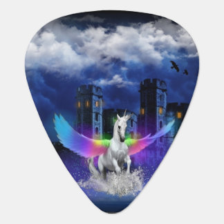 Unicorn With Rainbow Wings Guitar Pick