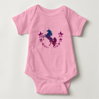 Unicorn with stars baby bodysuit