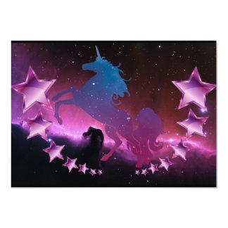 Unicorn with stars card