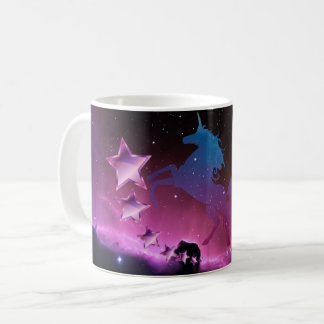 Unicorn with stars coffee mug