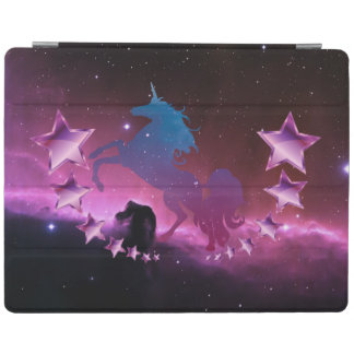 Unicorn with stars iPad cover