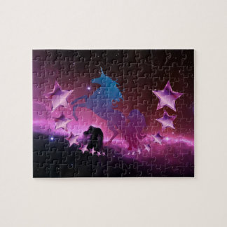 Unicorn with stars jigsaw puzzle
