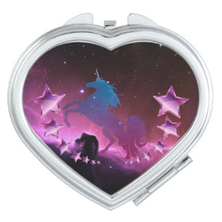 Unicorn with stars mirror for makeup