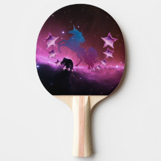 Unicorn with stars ping pong paddle