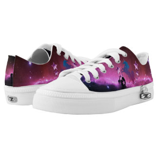 Unicorn with stars printed shoes