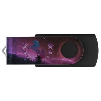 Unicorn with stars USB flash drive